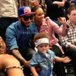La famille Beatz à un match de The Knicks