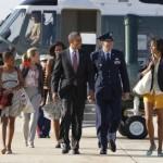Sasha et Malia Obama presqu'aussi grandes que leur papa!