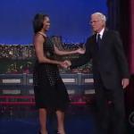 "La première dame Michelle Obama invitée de ""The Late Show"""