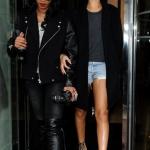 Rihanna et son amie Melissa Ford sortent de l'hôtel à Londres
