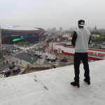 Jay-Z devant le Barclays Center