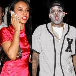 Chris Brown et Karrueche Tran à la fête d'Halloween au manoir Greystone