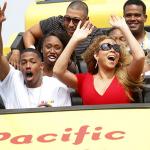 Mariah Carey et Nick Cannon dans une fête forraine avec leurs enfants Roc et Roe