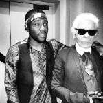 Franck Ocean en compagnie de Karl Lagerfeld