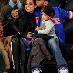 Alicia Keys, Swizz Beatz et leur fils Egypt assistent au match des Knicks