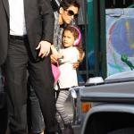 Halle Berry accompagne sa fille Nahla à l'école