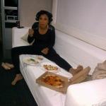 Jennifer Hudson mangeait une pizza tout en se préparant pour une publicité