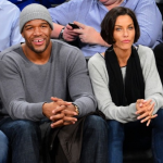 Michael Strahan et Nicole Murphy au match New York Knicks – Brooklyn Nets