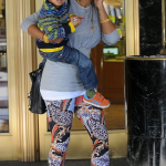 Kelis et son fils Knight était faire du shopping à Beverly,  Nas les aurait rejoint