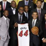 Barack Obama reçoit Miami Heat à la Maison Blanche