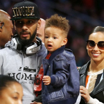 Alicia Keys, Swizz Beatz et Egypt assistent au Slam Dunk Contest