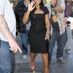 Toni Braxton était sur le plateau de tournage pour Extra