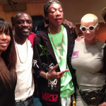 Kelly Rowland en studio avec Akon, Wiz Khalifa, Amber Rose et Pharrell Williams