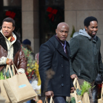 "Terrence Howard et Taye Diggs sur le plateau du tournage de ""The Best Man Holiday"""