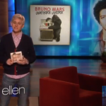 "Bruno Mars interprète ""When I Was Your Man"" chez Ellen"