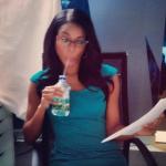 """Gabrielle Union sur le plateau du tournage de """"Being Mary Jane"""""""