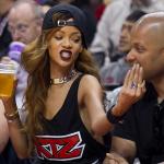 Rihanna était au match des Lakers avec Jay Brown