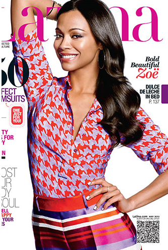 Zoe Saldana covers Latina Magazine