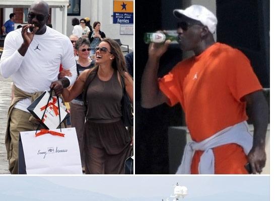 tout neuf bbd36 ab77e Michael Jordan et sa femme Yvette passent leur lune de miel ...