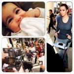 Kim Kardashian et sa fille North font les boutiques à Beverly Hills