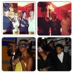 Beyonce, Solange Knowles, Kelly Rowland, Jennifer Hudson à un bal masqué à New Orleans
