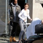 Kanye West, Kim Kardashian et Bébé North West font du shopping