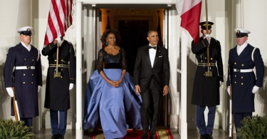 Barack Obama, François Hollande, Michelle Obama