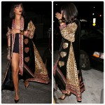Rihanna exhibe ses jambes sexy