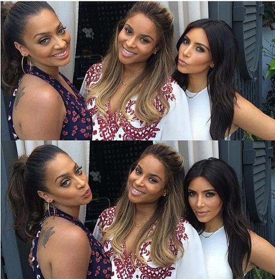 Kim Kardashian et Lala Anthony à la baby shower Ciara