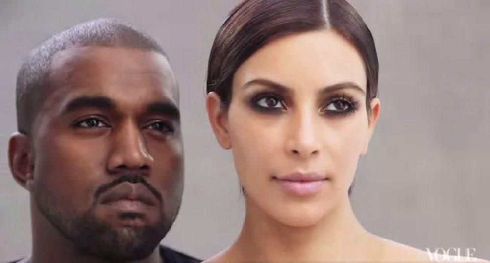 Kim Kardashian, North West et Kanye West - Vogue Magazine