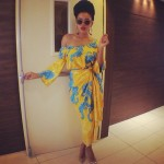 Angela Simmons magnifique en tenue africaine au Nigéria
