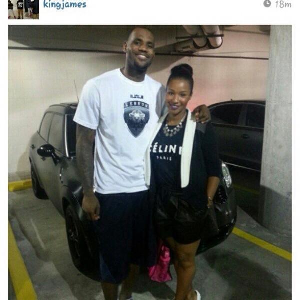 LeBron James et Savannah James