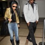 Nicki Minaj et son beau arrivent à l'aéroport de Los Angeles