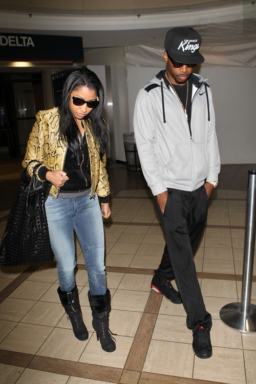 Nicki-Minaj-LAX-Airport-1