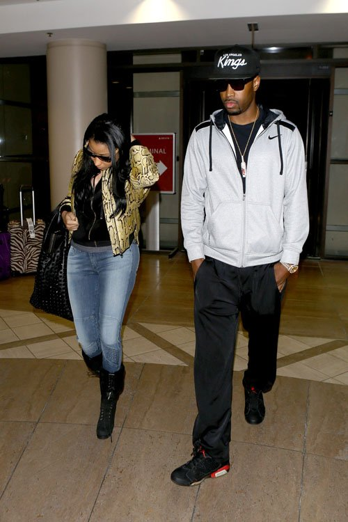 Nicki-Minaj-LAX-Airport