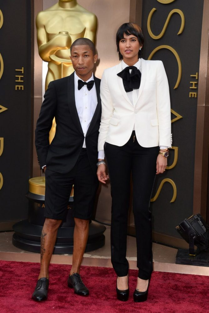 Pharrell Williams et Helen Lasichanh - Oscars 2014