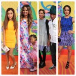 Pharrell Williams, Tia Mowry, Christina Milian, Aloe Blacc et d'autres au Nickelodeon Kids' Choice Awards