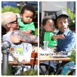 Amber Rose, Wiz Khalifa et Bébé Sebastian passent du temps ensemble