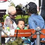 Amber Rose, Wiz Khalifa et Bébé Sebastian