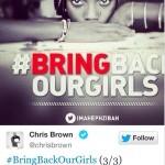 Chris Brown et plusieurs célébrités se mobilisent pour les jeunes nigérianes