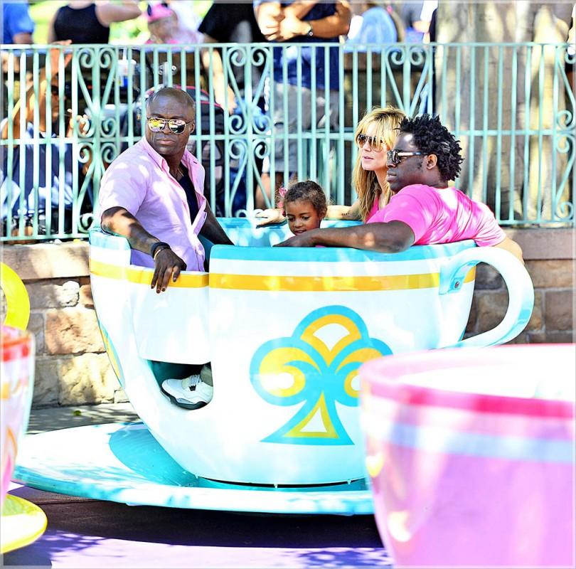Heidi-Klum-Seal-Samuel-et-enfant-Disneyland-Anaheim