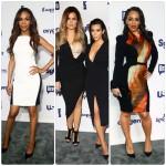 Michelle Williams, Melissa Ford, Kim Kardashian, Khloe Kardashian aux NBC Upfront 2014