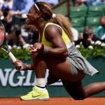 Serena Williams bat son amie pour son premier tour de Roland Garros 2014