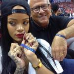 Rihanna, Melissa Forde, Future et d'autres au match des L.A. Clippers