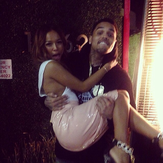 Chris Brown porte Karrueche Tran