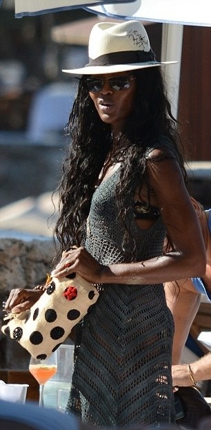 Naomi Campbell à Ibiza