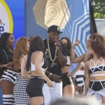 50 Cent, Joe et Trey Songz sur la scène de Good Morning America