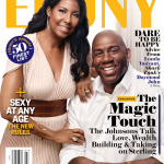 Magic Johnson et sa femme Cookie font la une de Ebony Magazine