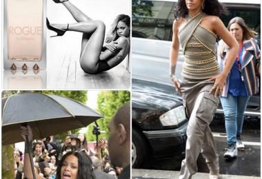 Rihanna présente son parfum Rogue à Sephora aux Champs Elysés