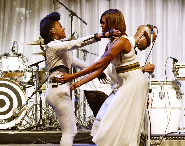 Janelle Monae et Michelle Obama au Grammy Musuem